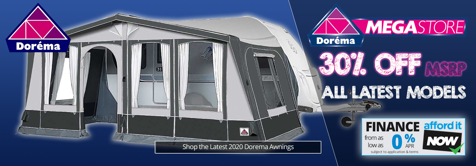 Dorema Megastore - 30% off MSRP of all Dorema Awnings