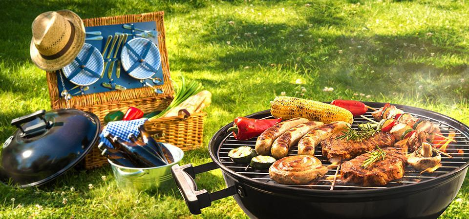 Food on a barbeque