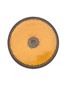 Trailer Side Reflector - Round Amber