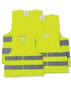 Set of 4 Hi-Vis Reflective Vests - Family Pack | Car Breakdown Equipment