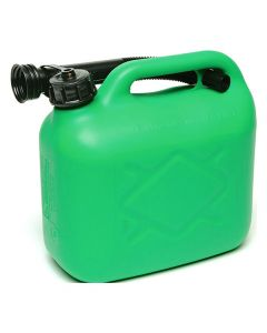 Plastic Petrol Fuel Can - (5 Litres) Green With Filler Tube