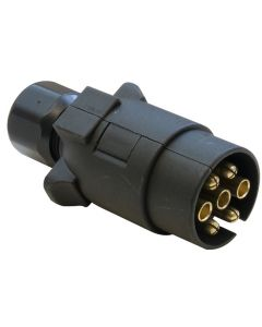 7-pin Plastic Trailer Plug - N-type (fits Black Socket)