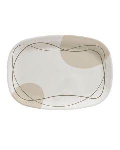 Cappuccino Melamine Rectangular Platter - 36cm