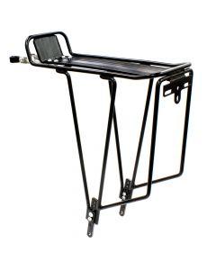 ETC Alloy Rear Cycle Pannier Rack - Black