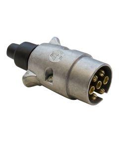7-pin Alloy Trailer Plug - N-type (fits Black Socket)