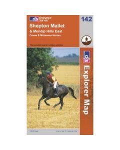 OS Explorer Map 142 - Shepton Mallet & Mendip Hills East Frome & Midsomer Norton