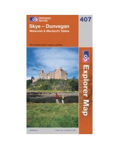 OS Explorer Map 407 - Skye - Dunvegan Waternish & Macleod?s Tables
