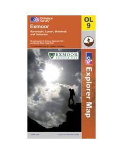 OS Explorer Map OL9 - Exmoor Barnstaple Lynton Minehead & Dulverton