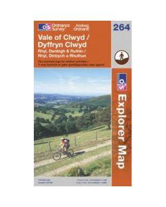 OS Explorer Map 264 - Vale of Clwyd Rhyl Denbigh & Ruthin