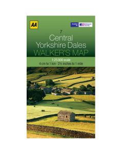 AA Walkers Map 7: Central Yorkshire Dales