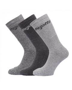 Regatta 3 Pack Socks Mens 6-11 - Grey