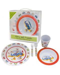 Harry and Friends - 5pc Childrens Melamine Set