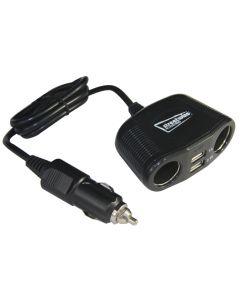 Twin Sockets With Twin USB 12V / 24V