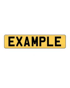 Rear Number Plate - Oblong