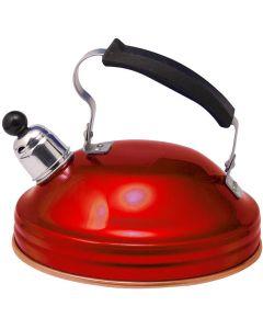 1.5 Litre Aluminium Whistling Kettle - Red