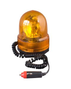 12 Volt Rotating Amber Beacon Lamp - Magnetic Base