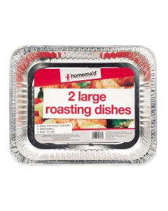 Foil Barbecue Roasting Dishes - Twin Pack