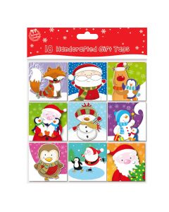 Traditional Hand Crafted Christmas Gift Tags. Pack of 18
