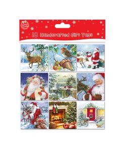Handcrafted Christmas Gift Tags- Pack of 18