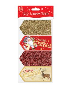 Luxury Glitter and Foil Christmas Gift tags - Pack of 20