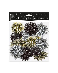 Large Luxury Bows In Modern Colours - pack of 12