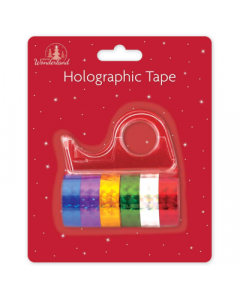 6 Rolls Of Hollographic Tape With Dispenser