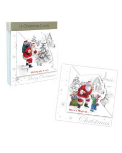 Traditional Die Cut Christmas Cards - Pack of 14