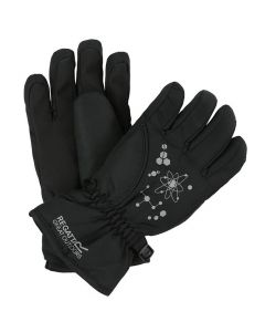 Regatta Kids Arlie II Waterproof Gloves - Black