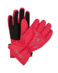 Regatta Kids Arlie II Waterproof Gloves - Bright Blush