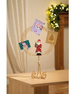 Santa Circle Card Holder