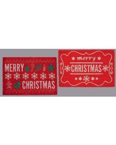 Merry Christmas Door Mat - 60mm x 40mm
