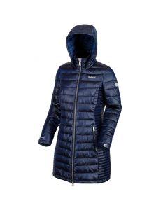 Regatta Women's Andel Long Length Hooded Baffle Jacket - Prussian Blue