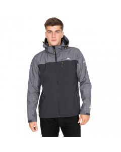 Trespass Abbott Men's Breathable Softshell Jacket - Dark Grey Marl