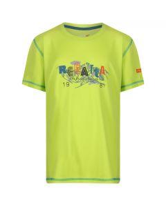 Regatta Kids' Alvarado IV Graphic Print T-Shirt - Lime Punch