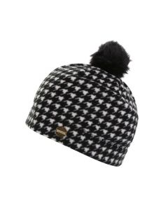 Regatta Azni Women's Printed Fleece Bobble Hat - Black Houndstooth