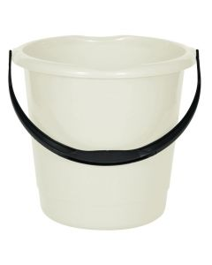 10 Litre Household Bucket - Cream