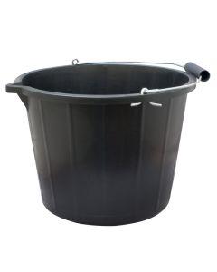 Newmark Black Plastic Bucket - 15 Litre