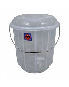 VPL Bucket with Lid - Clear - 13 Litre