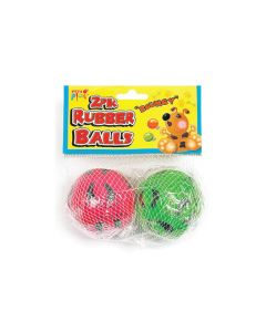 Pets Play Rubber Dog Bouncy Balls - Pack of 2