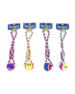 Pet Ball And Rope Knot Tug Toy