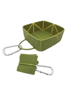 EasyPets FoldaBowl Single Foldable Bowl with Carabiner Clip