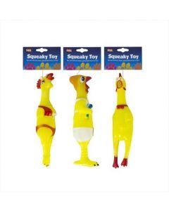 Squeaky Vinyl Chicken Dog Toy