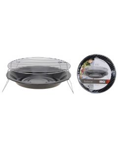 Round Portable Charcoal Barbecue