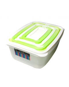 5 Food Storage Containers - Nested Set