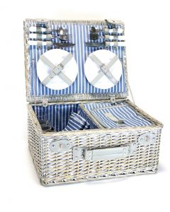 Picnic Basket With Cooler Compartment - 4 Person