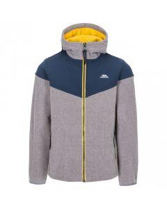 Trespass Beiber Kid's Full Zip Fleece Hoodie - Navy/Storm Grey