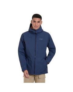 Berghaus Deluge Pro 2.0 Waterproof Insulated Men's Jacket in Mood Indigo Blue