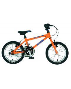 """Squish Lightweight Alloy Kids Bike - 14"""" Wheel Orange/Blue"""