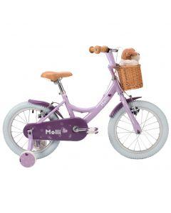 """Raleigh Molli 16"""" Girls Bike in purple"""
