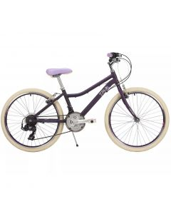 "Raleigh Chic Alloy Girls Mountain Bike - 24"" Wheel Plum"